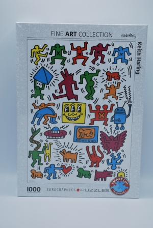 Puzzel 1000st Keith Haring logo