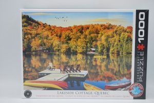 Puzzel 1000st Lakeside Cottage logo