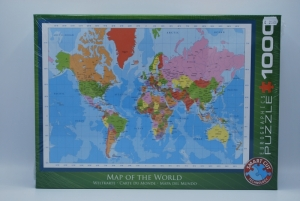 Puzzel 1000st map of the world logo