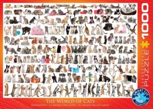 Puzzel 1000s the world of cats logo